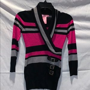 Long striped sweater